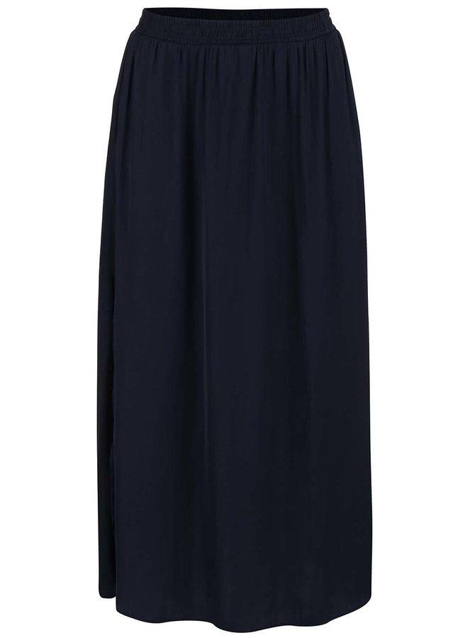 Tmavomodrá dlhá sukňa VERO MODA Nellie