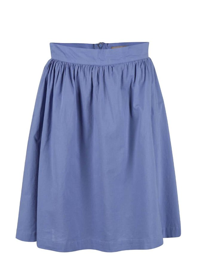 Modrá delší sukně VERO MODA Cambric