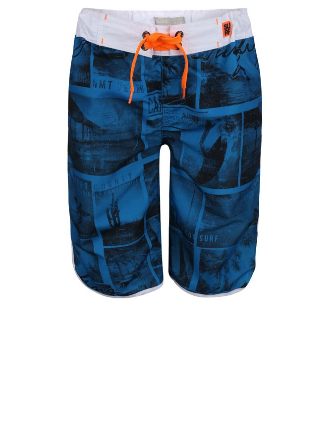 Modré chlapčenské plavky s potlačou name it Zan