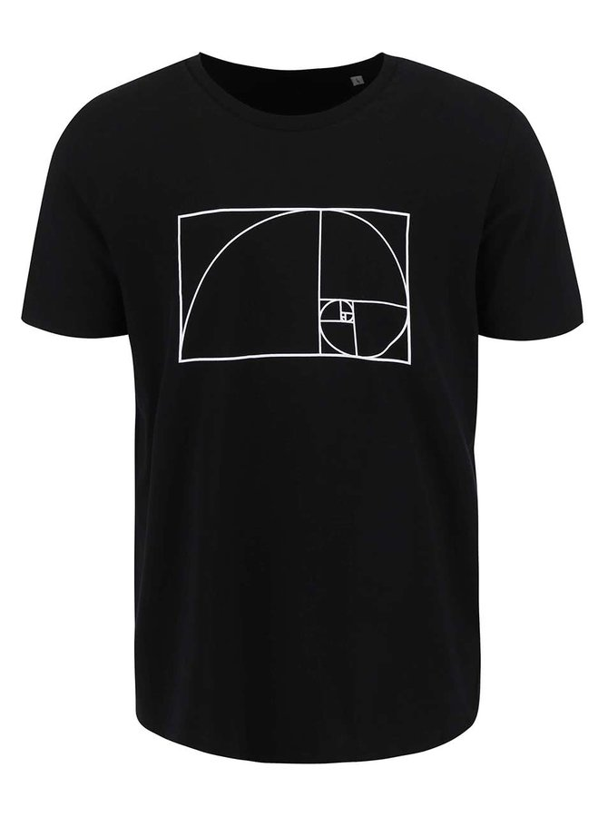 Čierne dámske tričko ZOOT Originál Fibonacci
