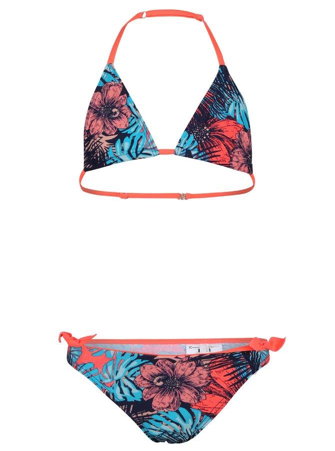 Oranžovo-modré holčičí plavky name it Zebra