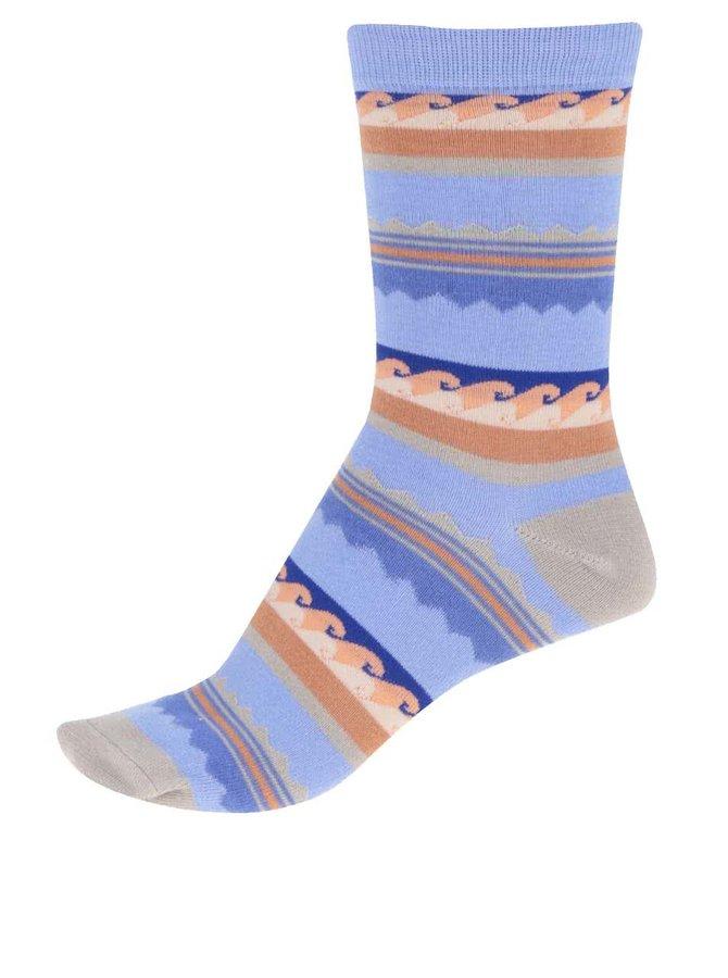 Modré dámske bambusové ponožky so vzormi Braintree Surfer