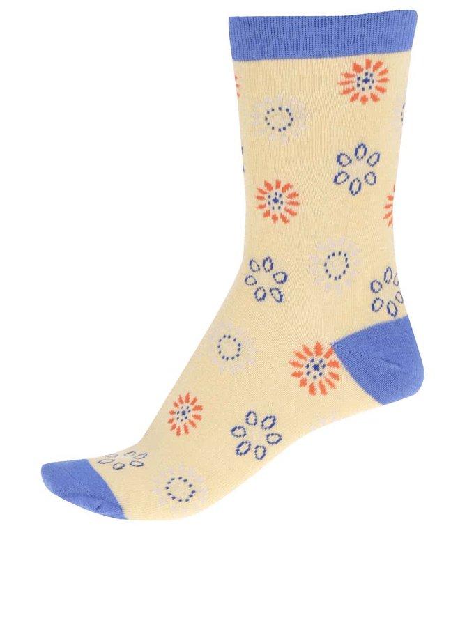 Žlté dámske bambusové ponožky Braintree Daisy Dot