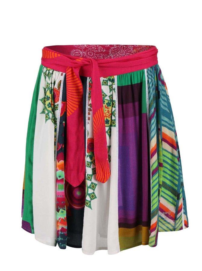 Farebná vzorovaná sukňa Desigual Yami