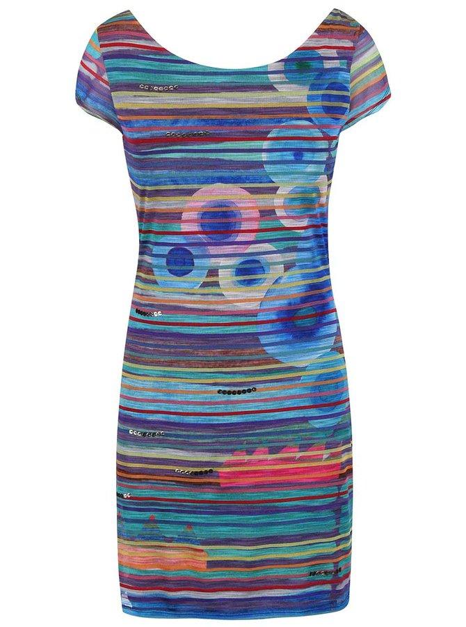 Farebné prúžkované šaty ladené do mora Desigual Ultra