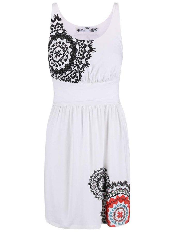 Bílé šaty na ramínka Desigual Claudio