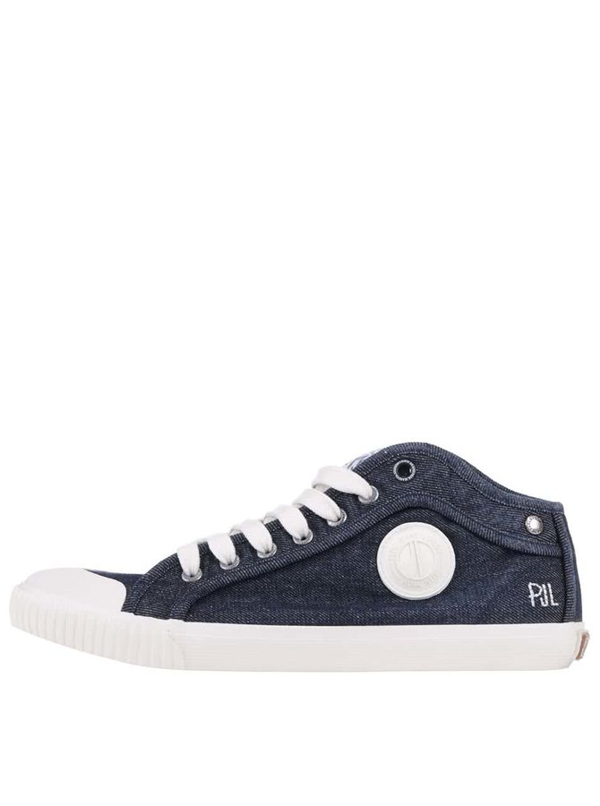 Modré pánske rifľové tenisky Pepe Jeans Industry Denim