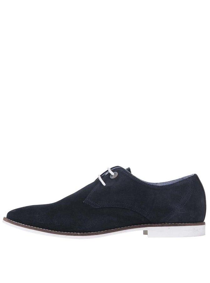 Pantofi din piele Pepe Jeans Belmont albaștri