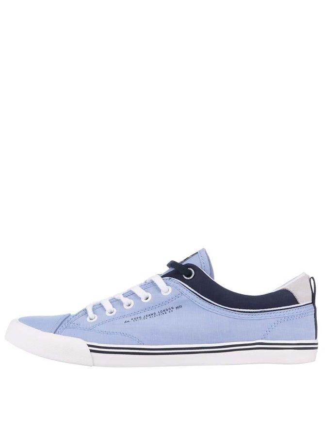 Světle modré pánské tenisky Pepe Jeans Britt Fabric