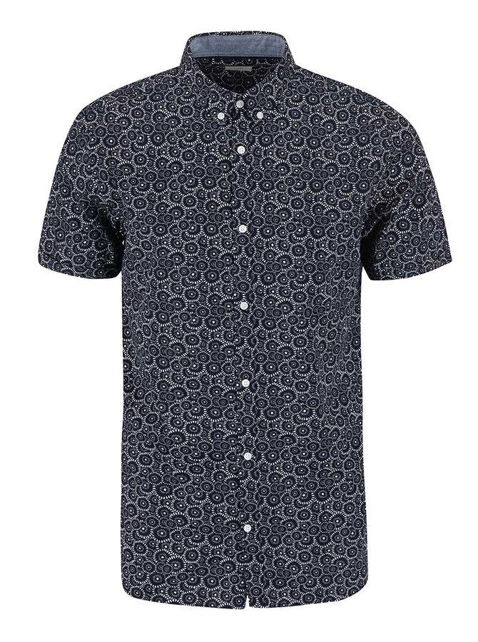 Tmavě modrá vzorovaná košile Jack & Jones Sun