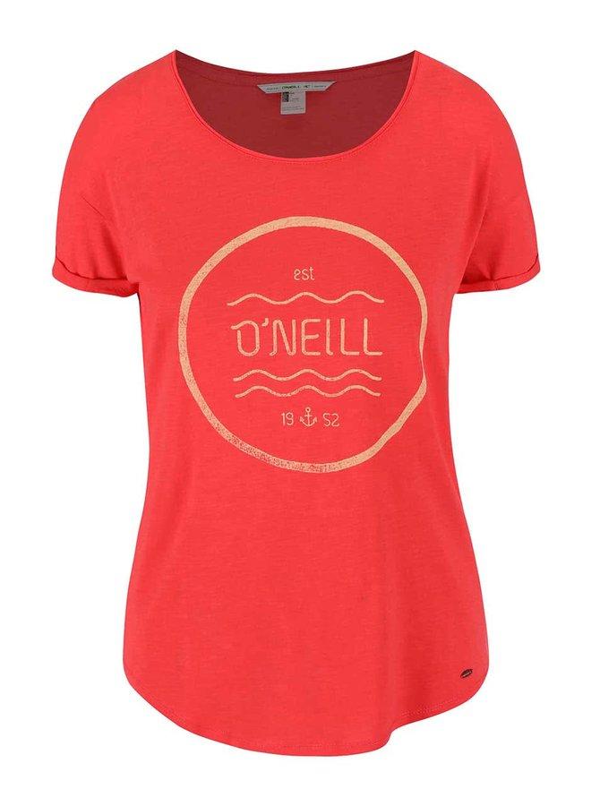 Červené dámské tričko O'Neill Script