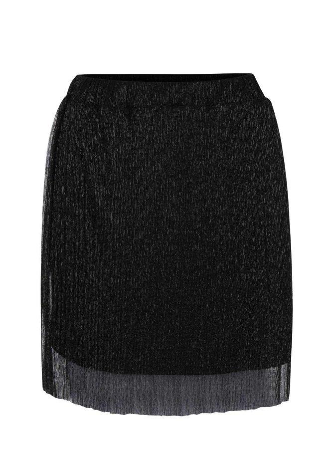 Černá lesklá sukně Alchymi Spinel