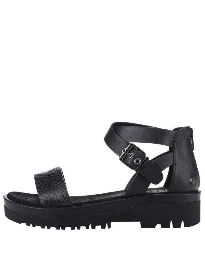 Čierne sandále s remienkom okolo členka Bullboxer
