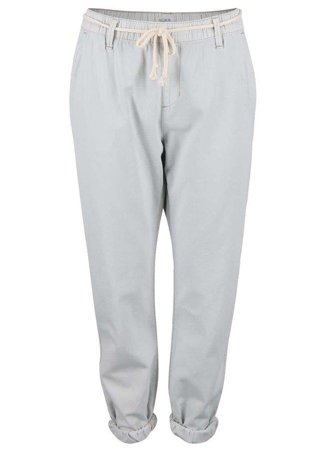 Světle šedé volnější kalhoty Roxy Beachy