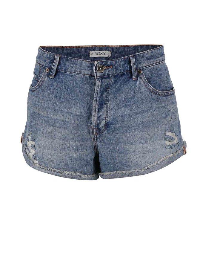 Pantaloni scurți Roxy Biker din denim albastru