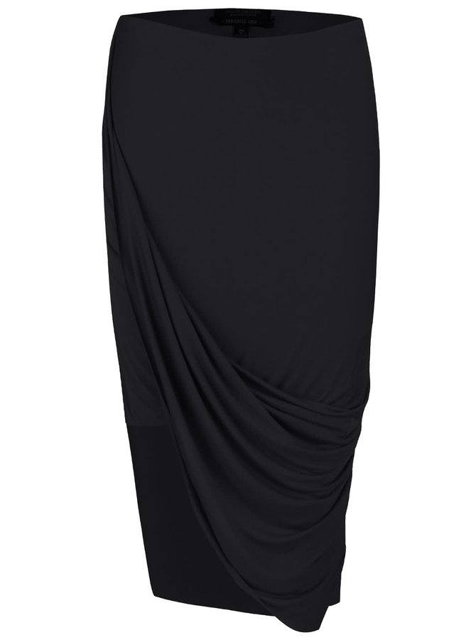 Čierna asymetrická sukňa Maison Scotch