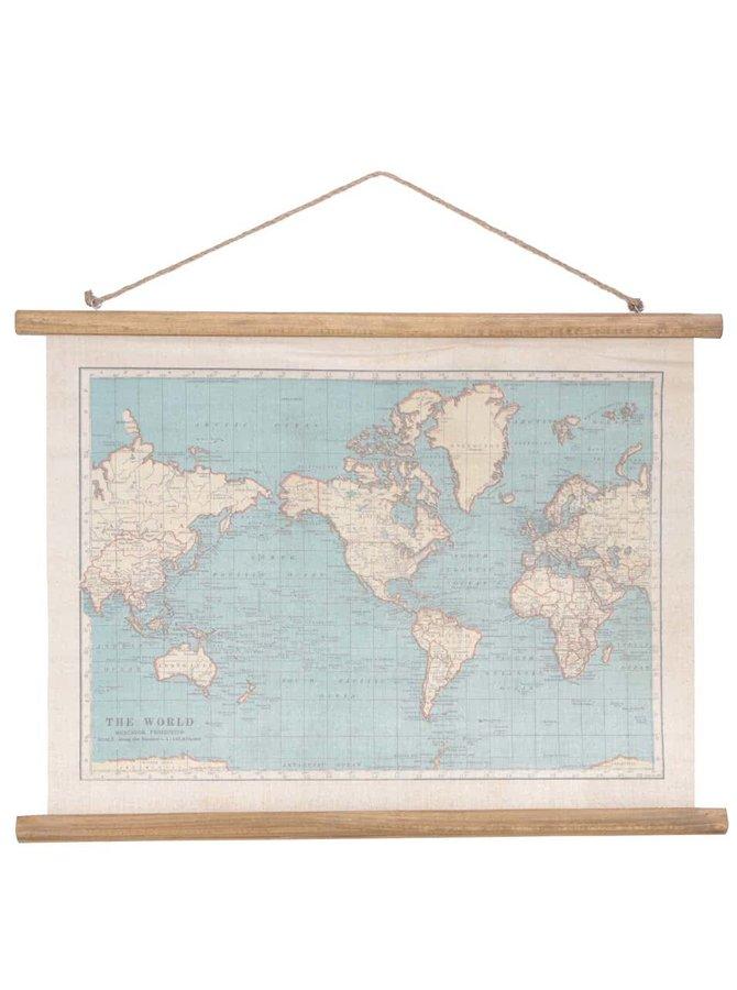 Dřevěná závěsná mapa Sass & Belle Vintage Map