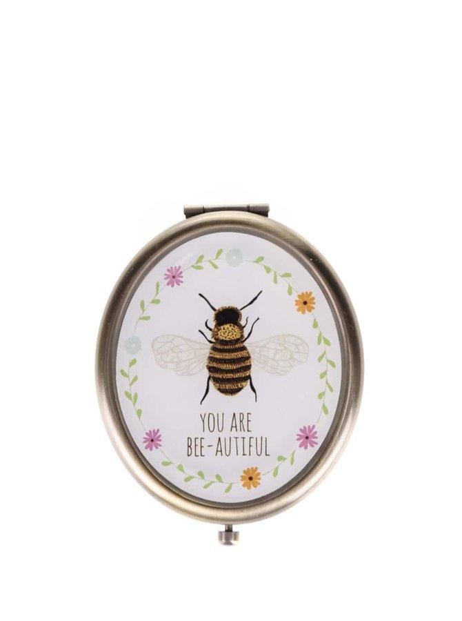 Vreckové retro zrkadielko s včielkou You Are Bee-autiful Sass & Belle