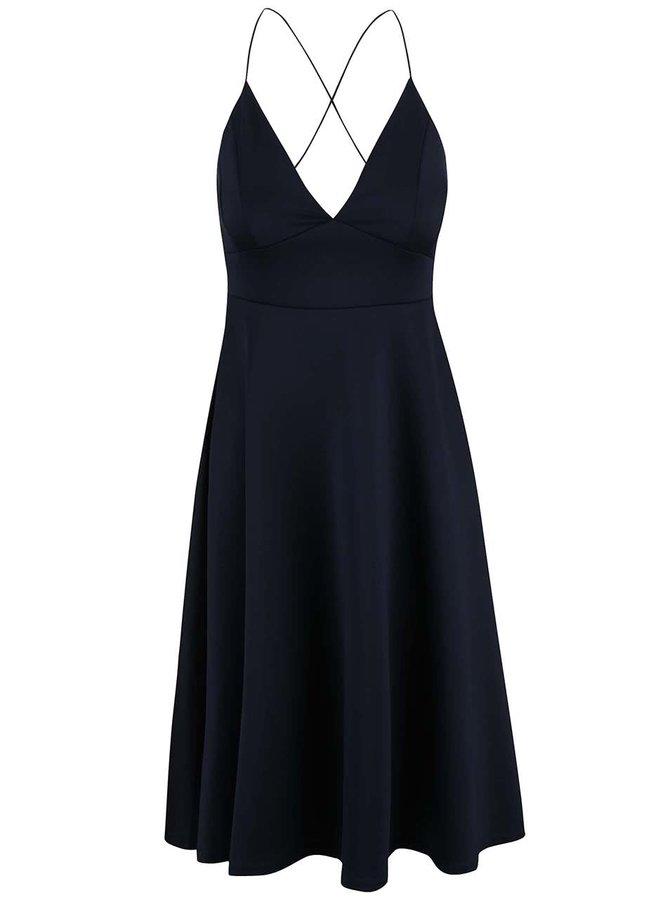 Tmavě modré šaty na ramínka AX Paris