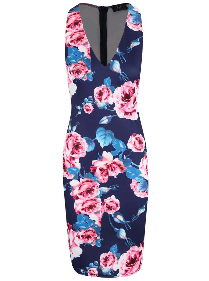 Rochie AX Paris navy cu imprimeu floral