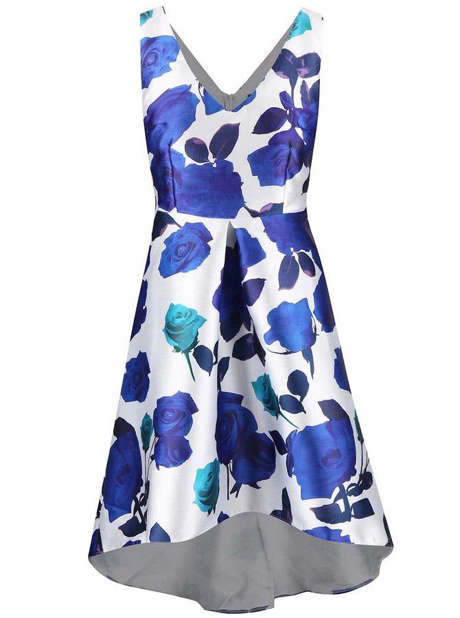 Biele šaty s modrými kvetmi AX Paris