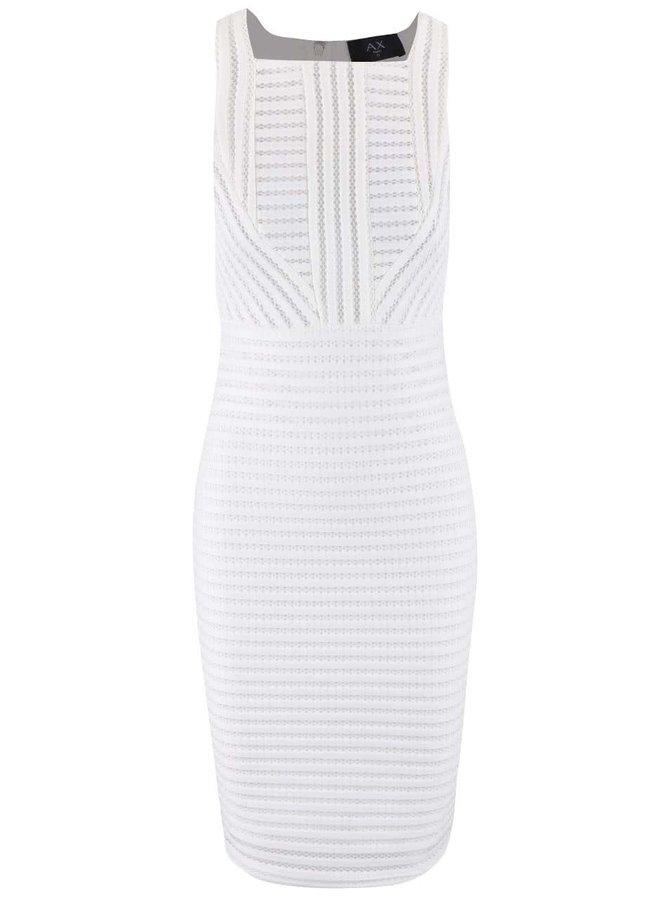Biele perforované midi šaty AX Paris