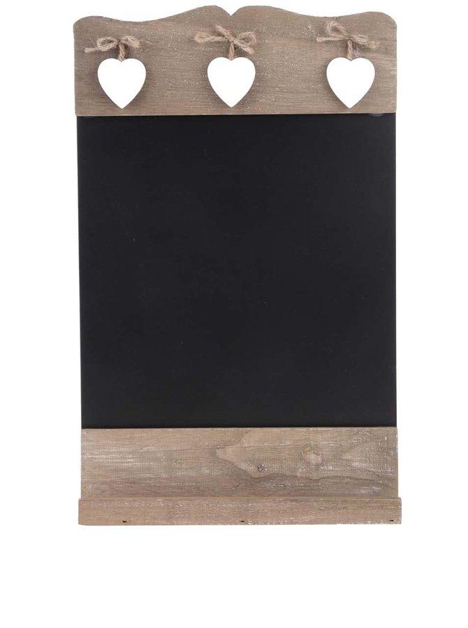 Tablă Sass & Belle de perete cu cadru din lemn și inimioare