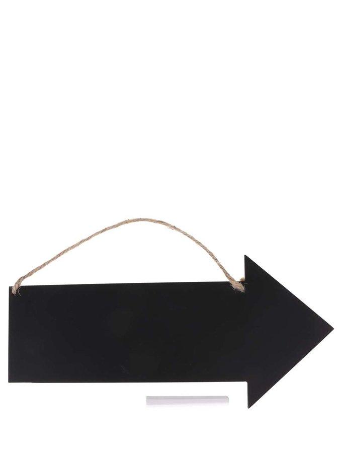 Černá závěsná tabule ve tvaru šipky Sass & Belle Arrow