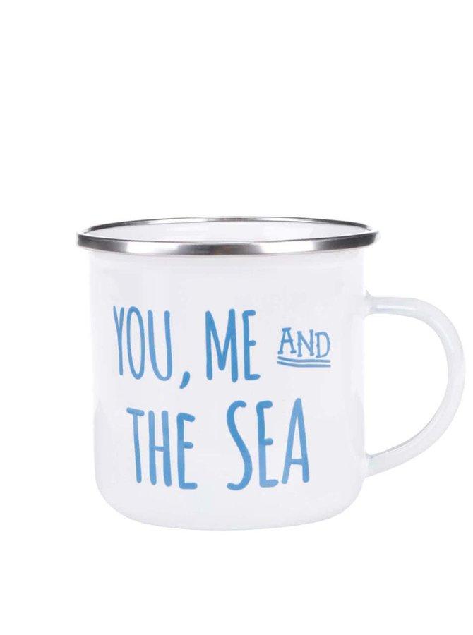 Biely plechový hrnček Sass & Belle You, Me & Sea