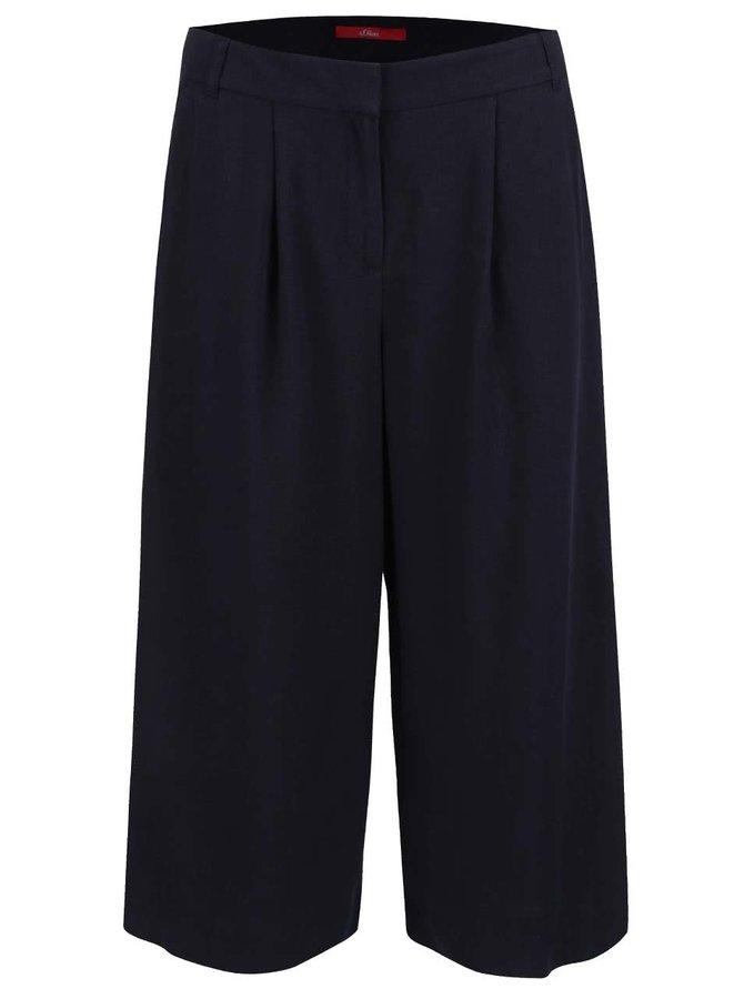Pantaloni s.Oliver Culottes albastru închis
