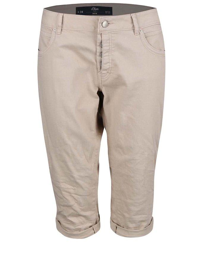 Pantaloni s.Oliver Catie 3/4 bej
