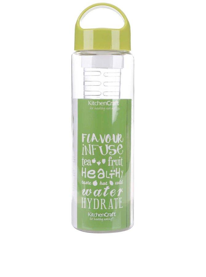 Plastová láhev na vodu se zeleným víčkem Kitchen Craft