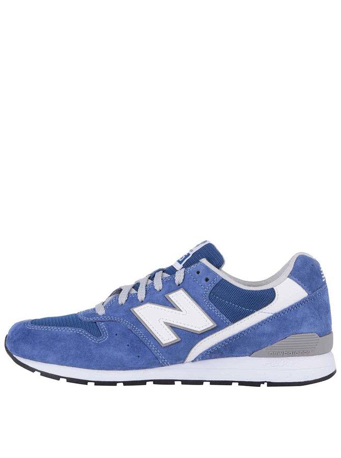 Modré pánske tenisky s bielymi detailmi New Balance