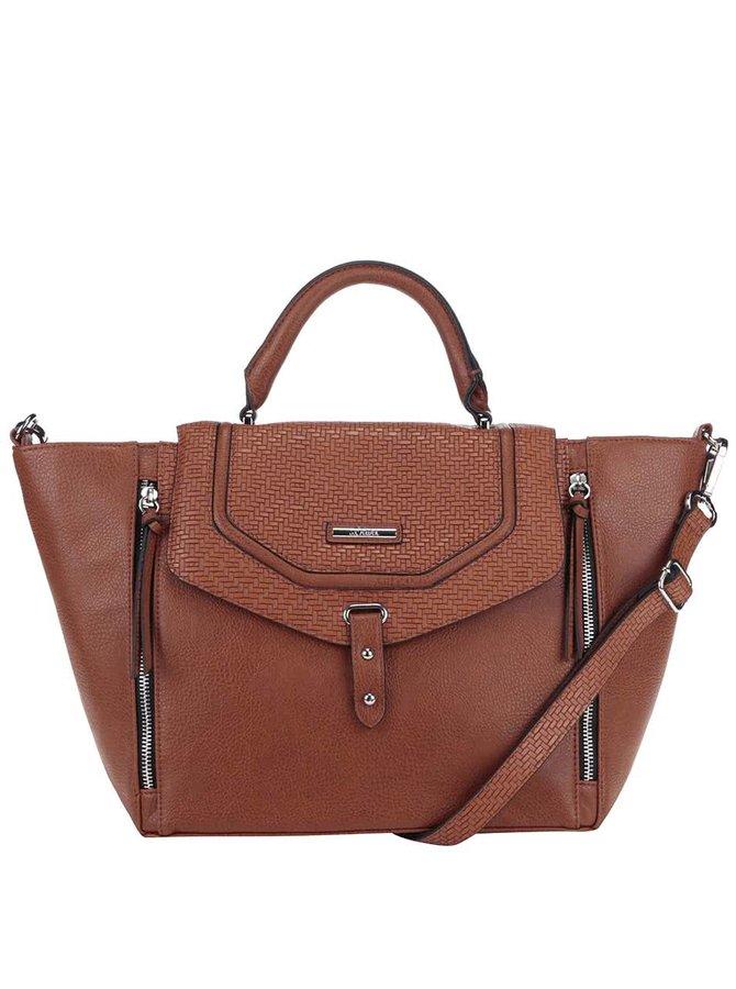 Hnedá kabelka so zipsami s.Oliver