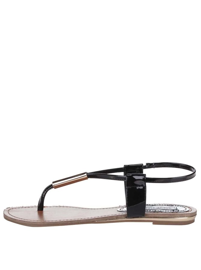 Béžovo-čierne dámske sandálky Steve Madden Hammil