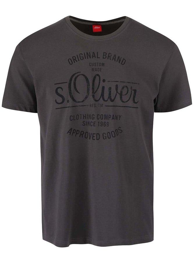 Tricou s.Oliver gri închis bărbătesc