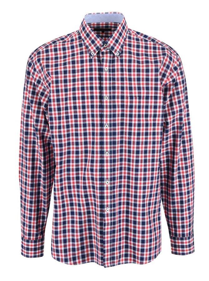 Modro-červená kockovaná košeľa Seven Seas York