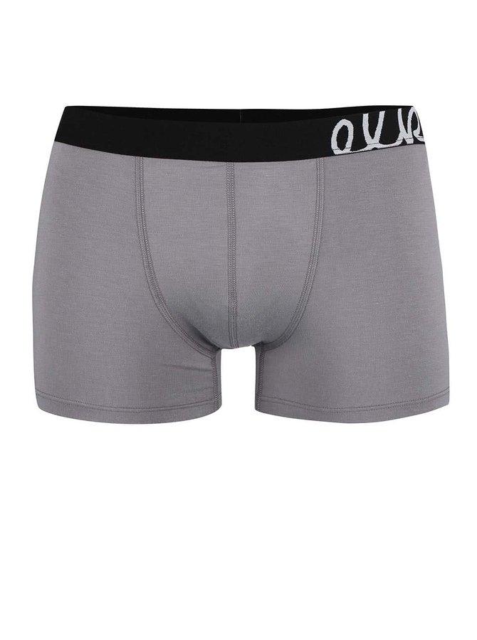 Sivé boxerky s čiernou gumou El.Ka Underwear
