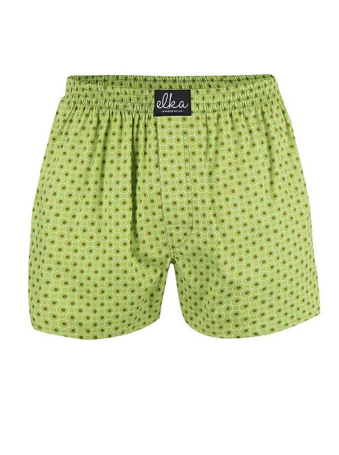 Světle zelené pánské vzorované trenýrky El.Ka Underwear