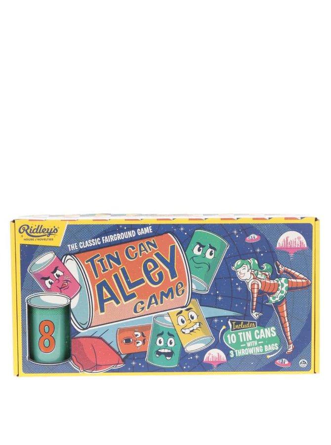 Hrací set deseti plechovek a tří pytlíků Ridley's