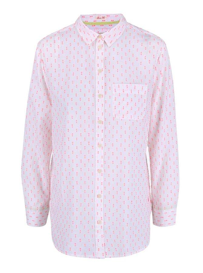 Bílá delší dámská košile se vzory Tom Joule Tippy