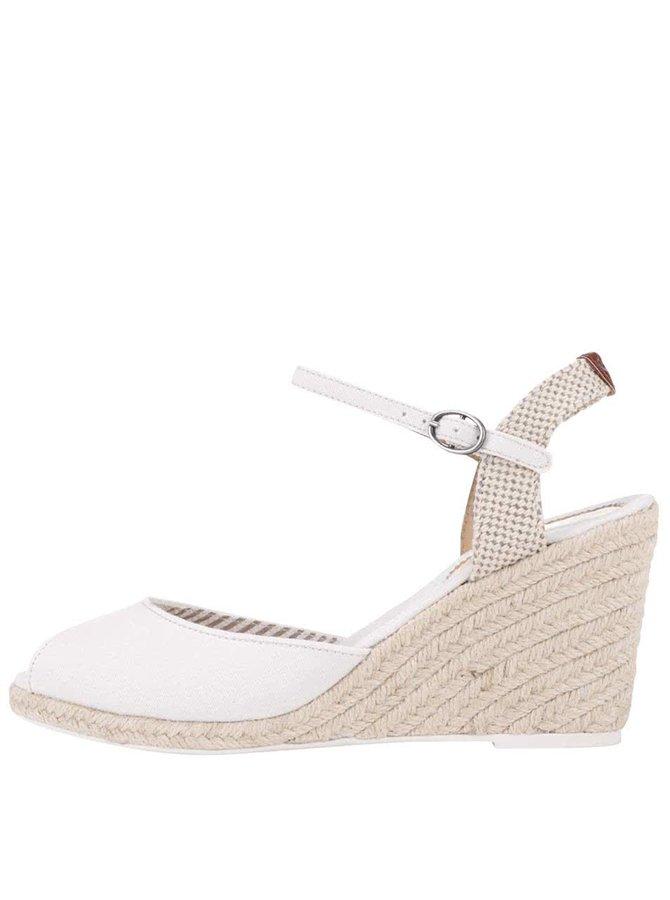 Sandale Pepe Jeans albe, cu platformă