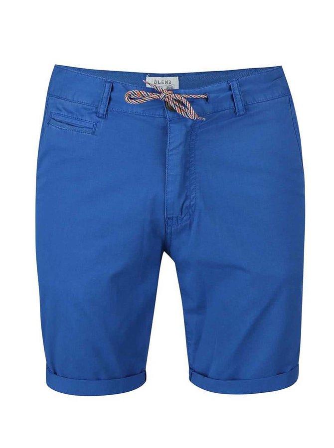 Pantaloni scurți Blend albaștri, cu șiret colorat