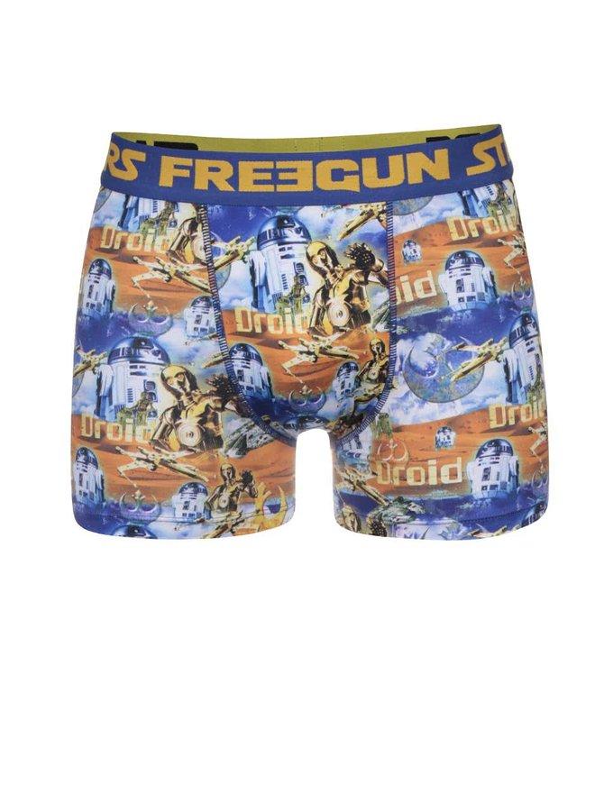 Boxeri Freegun albaștri cu imprimeu Star Wars