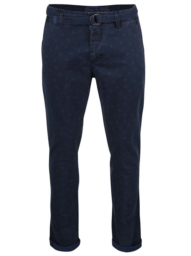 Pantaloni Dstrezzed navy cu model