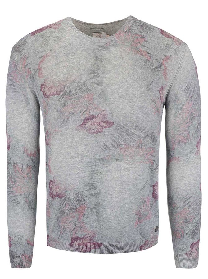 Bluză Dstrezzed gri cu model floral