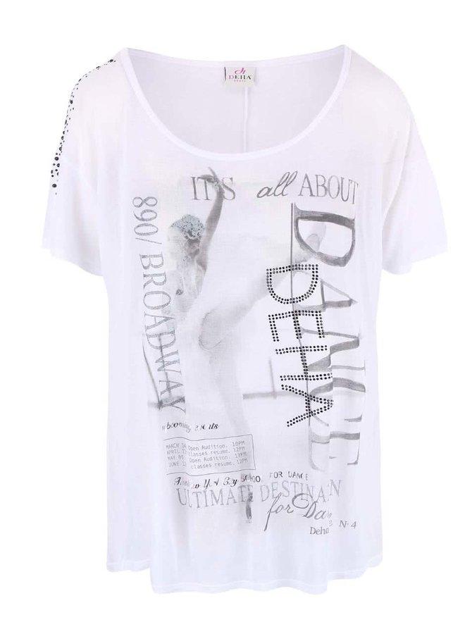 Biele priesvitné tričko DEHA Dance