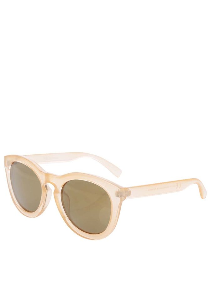 Světle oranžové sluneční brýle Pieces Biana