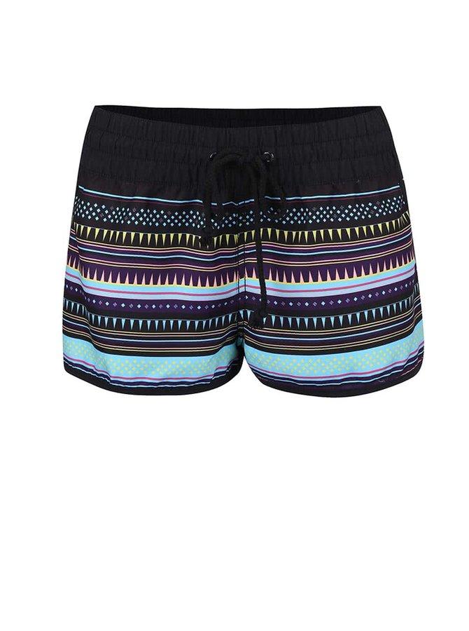 Pantaloni scurți Horsefeathers Naise negri cu dungi colorate