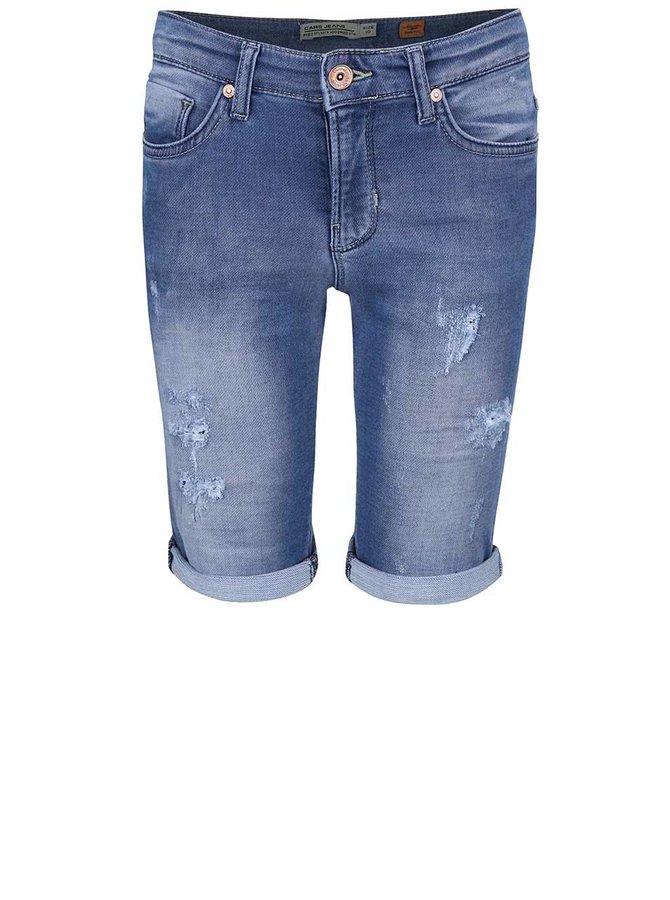 Modré klučičí džínové kraťasy s odřeným efektem Cars Jeans Atlanta